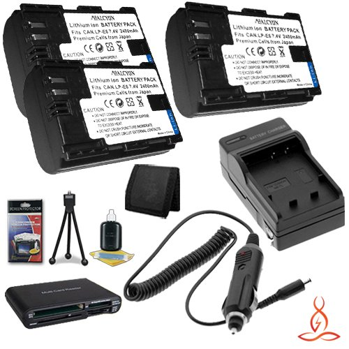 Four Halcyon 1200 mAH Lithium Ion Replacement Battery and Charger Kit for Nikon CoolPix S6500 Digital Camera and Nikon EN-EL19
