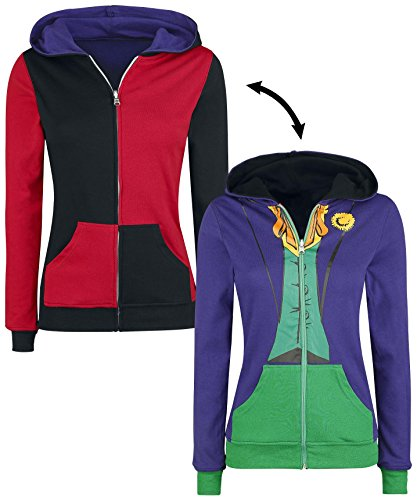 Dc Comics Dress (DC Comics Harley Quinn Joker Juniors Reversible Hoodie (Large))