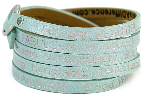 Goodworks You Are Beautiful Wrap Around Bracelet (Turquoise) Beautiful Turquoise Bracelet