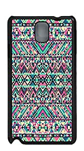 TUTU158600 Custom Cover Case with Hard Shell Protection note 4 cases - Pink Girly Abstract Aztec Art Print