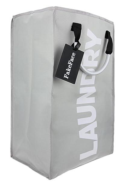 Fake Face Ropa Sucia (con mango de aleación de aluminio plegable para la ropa Saco