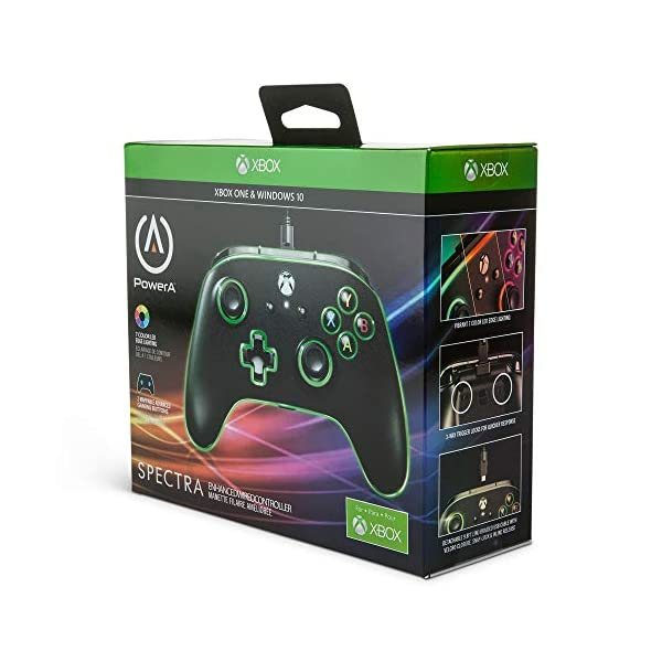 PowerA Spectra Enhanced Illuminated Wired Controller for Xbox One, X and Xbox One S - Xbox One 3