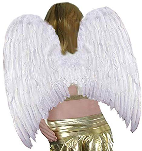 SACASUSA XL Super Large White Feather Angel Wings for halloween Adult Women and Men -