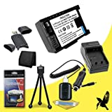 Halcyon 1500 mAH Lithium Ion Replacement BP-808 Battery and Charger Kit + Memory Card Wallet + SDHC Card USB Reader + Deluxe Starter Kit for Canon VIXIA HF M32 3.89 MP Full HD Camcorder and Canon BP-808