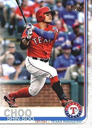 Amazoncom 2019 Topps 102 Shin Soo Choo Texas Rangers