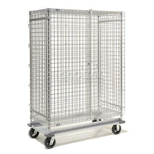 Wire Security Storage Truck with Dolly Base, 60x24x70, 1600 Lb. - Security Truck Wire Storage