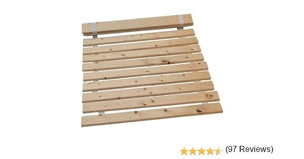 SKM Madera Cama Listones de Pino slats-Replacement Listones de Pino Macizo Listones Disponible 4 Todos los tamaños envío Gratuito, Madera, 4ft6 Double=136.5cm: Amazon.es: Hogar
