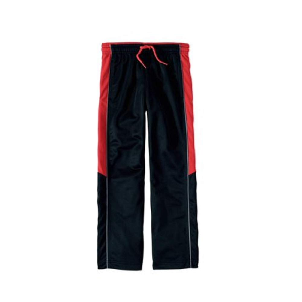 18 Athletic Works Active Tricot Pants New Boys Size XXL//2XG Polyester Black red