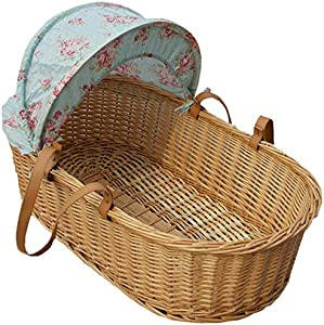 YXGH@ Newborn Baby Moses Basket Go Out Discharged Shopping Basket Lightweight Flat Car Sleeping Basket Portable Baby Sleeping Basket