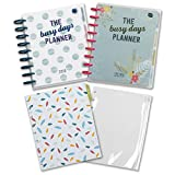 Boxclever Press Busy Days Starter Set. Disc-bound week-to-view planner set includes the 2018 & 2019 Busy Days Planner, zip lock pocket & a pack of notes pages to kick start your goals & organisation