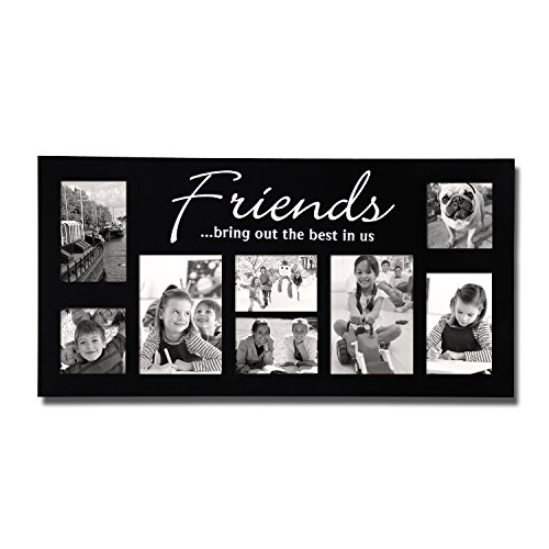 Homebeez 8-opening Friends Bring Out the Best in Us Picture Collage Frame, Wood for Wall Hanging Best Friends Wall