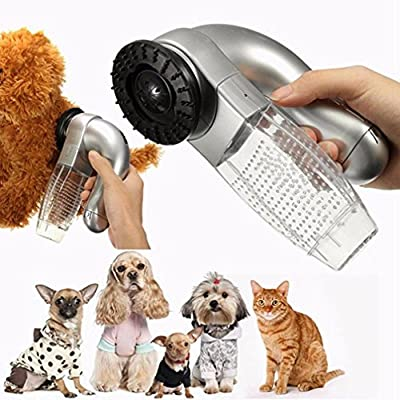 Iuhan Cat Dog Pet Hair Fur Remover Shedd Grooming Brush Comb Vacuum Cleaner Trimmer (not include the battery)