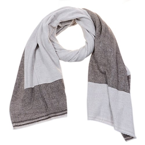 Reversible Cashmere Knit Scarf (High Grade Cashmere Pashmina Reversible Scarf | Men & Women | 100% Authentic Hand-Combed Luxurious, Softest & Warmest Scarves | Beautifully Crafted & Stylish Finish Reversible Wrap! (CH-DR-SCF-007))