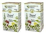 Celebration Herbals Organic Fennel Seed Blonde Tea Caffeine Free -- 48 Herbal Tea Bags (2 packs of 24)