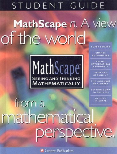 MathScape: Seeing and Thinking Mathematically, Grade 7, Consolidated Student Guide