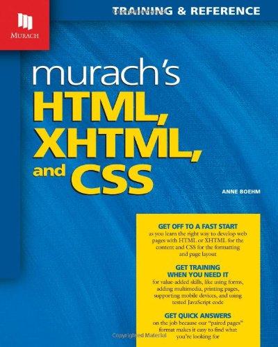 Murach's HTML, XHTML, and CSS by Mike Murach & Associates