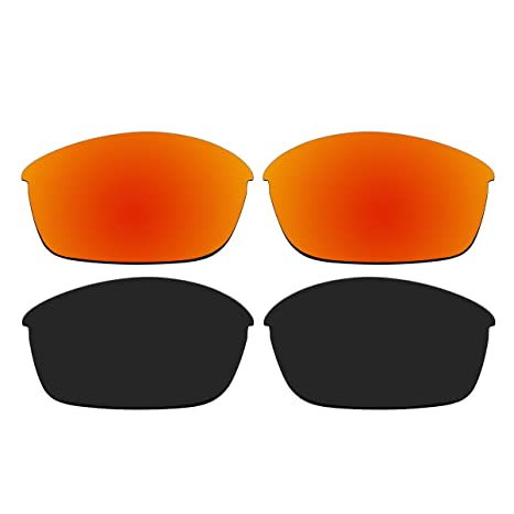 2a5eb28d16 Amazon.com  ACOMPATIBLE Replacement Polarized Fire Red and Black Lenses for  Oakley Flak Jacket Sunglasses  Sports   Outdoors