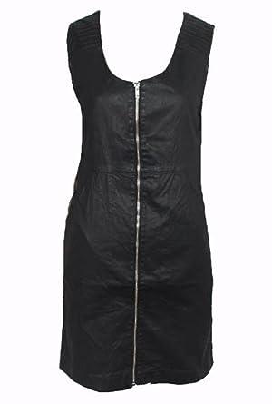 Object Black Leather Look Dress Amazon Clothing