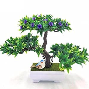 1pc decration diy Artificial flowers&wreaths Bonsai Fake Green Pot Plants 42