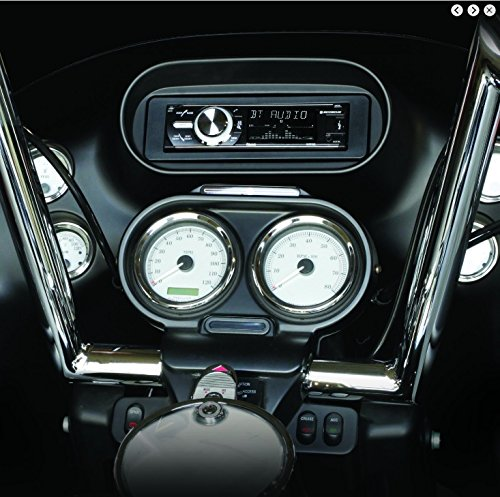 Single Din ISO Install Dash Kit with Wiring Harness /& Hardware Aftermarket Radio Stereo Fitted for 1996-2013 FLHX FLHT FLTR Street Electra Road Glide Harley Davidson