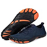 Water Shoes for Men Aqua Quick Dry Non Slip Slide Sandals for Outdoor Sport Volleyball Trail Hiking Travel Shoes(181226shenlan42)