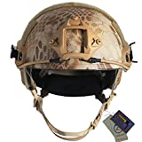 OSdream MH-B Camo Tactical Helmets For Airsoft Paintball (Desert python pattern)