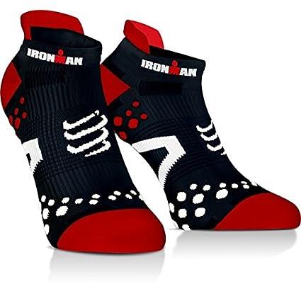Compressport Calcetines Ironman Pro Racing Socks V2.1 Run Low Rojos - T1: Amazon.es: Deportes y aire libre