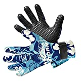 BPS 3mm Double-Lined Neoprene Wetsuit Gloves - for Diving, Snorkeling, Kayaking, Surfing and Other Water Sports - Choose from 6 Sizes