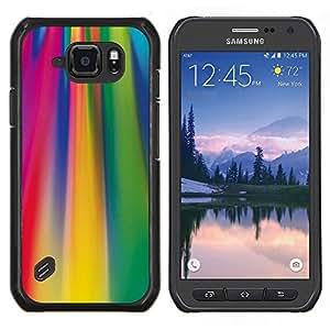 TECHCASE---Cubierta de la caja de protección para la piel dura ** Samsung Galaxy S6 Active G890A ** --Ácido líneas de colores fucsia patrón