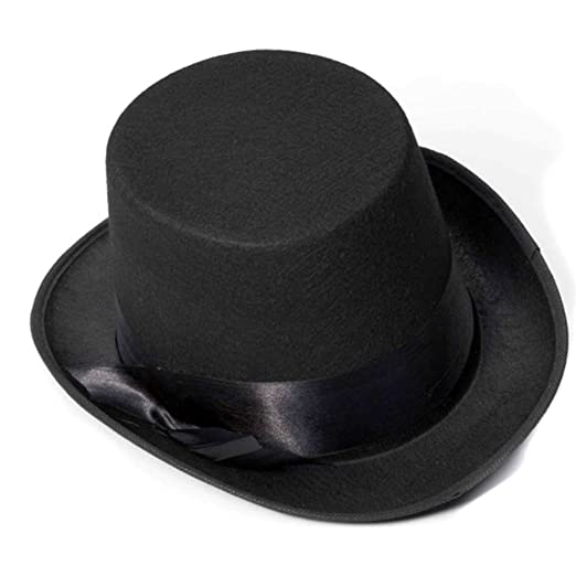 3e4c0bc50b026 Amazon.com  Felt Top Hat  Clothing