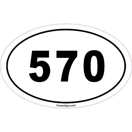 Amazoncom Area Code Bumper Sticker For Car Automotive - 570 area code