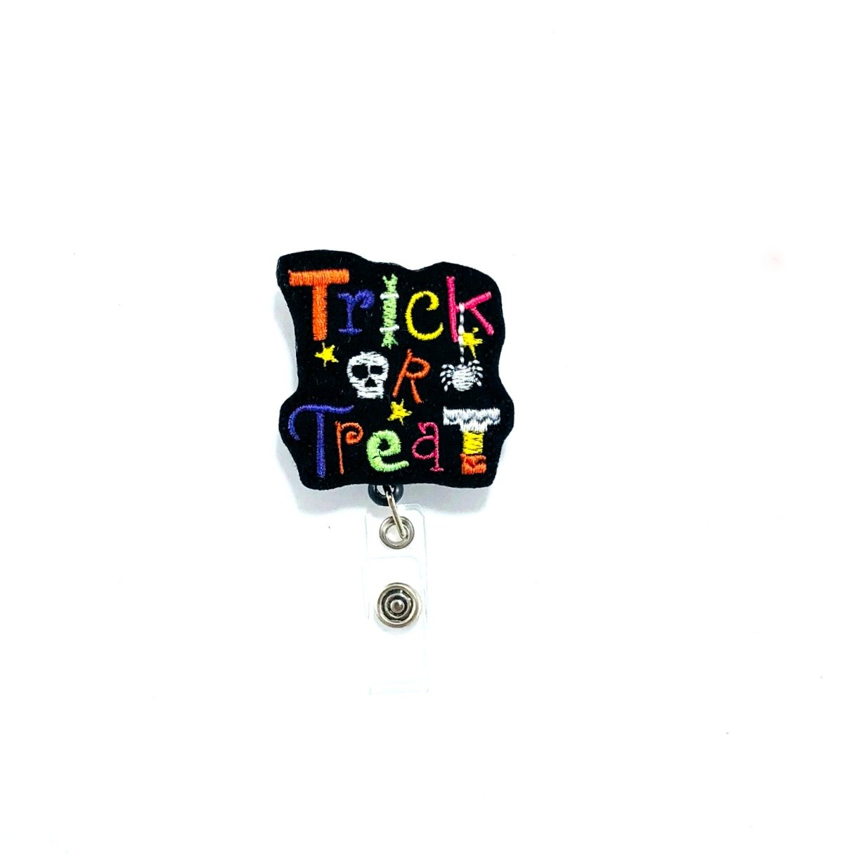 Trick or Treat Retractable Badge Reel