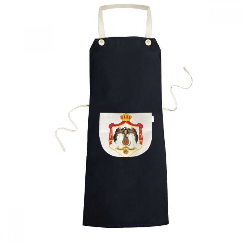 DIYthinker Jordan Asia National Emblem Cooking Kitchen Black Bib Aprons With Pocket for Women Men Chef Gifts