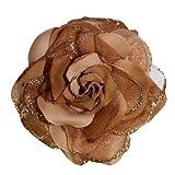Webb Direct 2U Girls Versatile 3 Function Glittered Rose Flower Clip Hair Bow