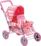 Deluxe Doll Twin Stroller Adjustable Handle Foldable High Quality Performance, Baby & Kids Zone