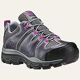 Timberland PRO Women's Rockscape Low Steel Toe Industrial Hiking Shoe, Grey Synthetic/Pink Pops, 10 W US