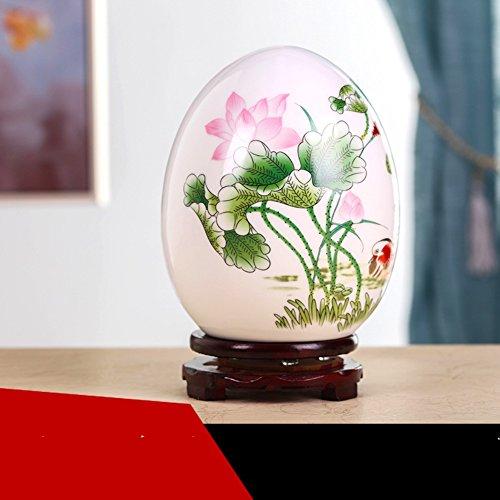 Vase Ceramic egg, Traditional Chinese Ceramic Creative Office decoration Modern Art For living room or office-G H18cmxD14cm