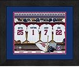 Minnesota Twins Personalized MLB Baseball Locker Room Jersey Framed Print 14x18 Inches