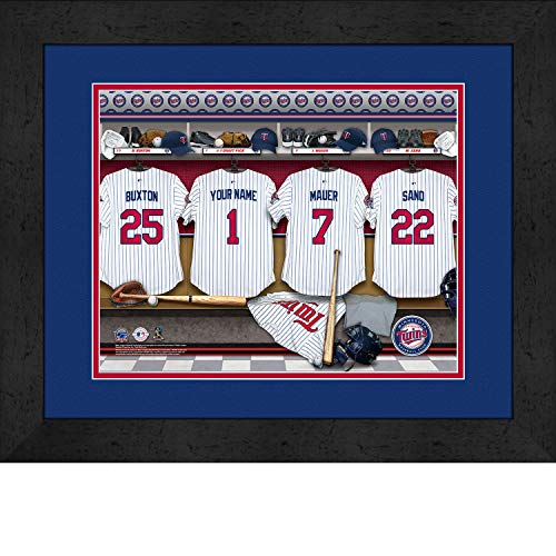 onalized MLB Baseball Locker Room Jersey Framed Print 14x18 Inches ()