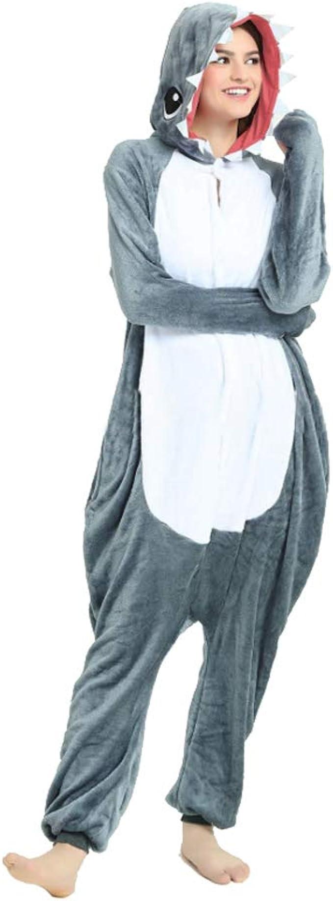 Aoibox Unisex Adult Plush Onesies One Piece Animal Cosplay Costume Pajamas