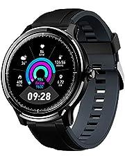 Montre Connectée Homme GOKOO Smartwatch Full Tactile Montre Sport Moniteur de Fréquence Cardiaque Calories Fitness Tracker Etanche IP68 Sportifs Montre Intelligente pour Android iOS (Gris foncé)
