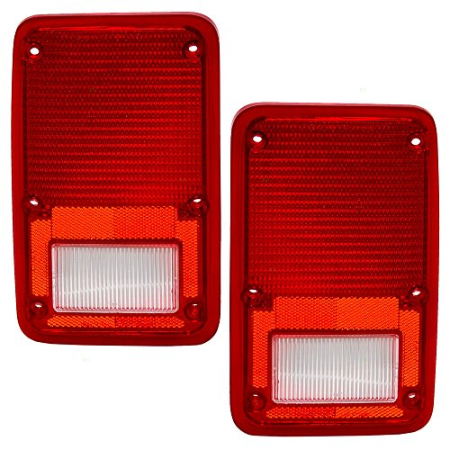 Driver and Passenger Taillights Tail Lamps Lens Replacement for Dodge Plymouth Van 4057973 4057972 - 1984 Dodge Van