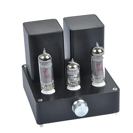 Amazon com: KDHLJ Small Mini Tube Amplifier Audio EL84+