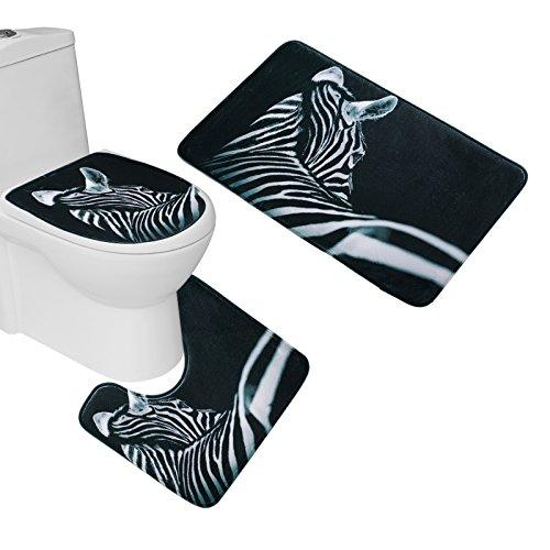 (Amagical Soft 3 Piece Bath Toilet Mat Set 18