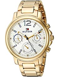 Tommy Hilfiger Womens CLAUDIA Quartz Stainless Steel Casual Watch, Color:Gold-Toned (Model: 1781742)