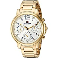 Tommy Hilfiger Women's 'CLAUDIA' Quartz Stainless Steel Casual Watch, Color:Gold-Toned (Model: 1781742)