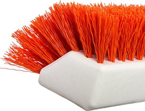 Carlisle 4042324 Hi-Lo Floor Scrub Brush, Orange (Pack of 12) by Carlisle (Image #1)