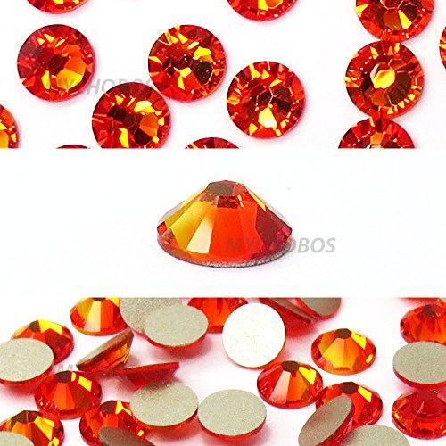 (FIREOPAL (237) orange Swarovski NEW 2088 XIRIUS Rose 30ss 6.4mm flatback No-Hotfix rhinestones ss30 288 pieces (2 gross) - Original Sealed Factory Pack *FREE Shipping from Mychobos (Crystal-Wholesale)*)