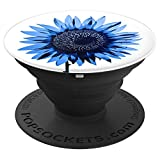 Beautiful-Blue Sunflower PopSockets for Romantic Women - PopSockets Grip and Stand for Phones and Tablets