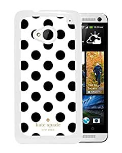 Fashionable And Unique Designed Kate Spade Cover Case For HTC ONE M7 White Phone Case 293